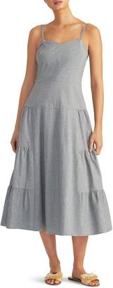 Rachel Roy Collection Microcheck Seersucker Sundress