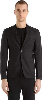 Prada Nylon Piuma And Mesh Detail Jacket