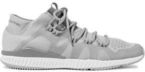 adidas by Stella McCartney Crazytrain Bounce Mid Stretch-Knit Sneakers