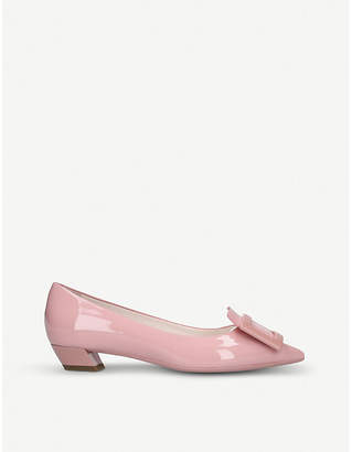 Roger Vivier Gomette buckle patent leather courts