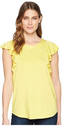Karen Kane Flounce Sleeve Top Women's Clothing