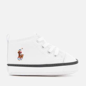 Polo Ralph Lauren Babies' Hamptyn Hi Canvas Trainers