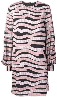 Emporio Armani wave printing Devoré dress