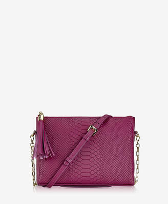 GiGi New York Hailey Crossbody, Mulberry Embossed Python