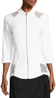 XCVI Tatiana Perforated Jacket, White
