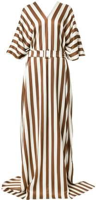Oscar de la Renta striped maxi dress