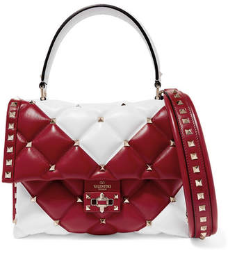 Valentino Garavani Candystud Quilted Leather Shoulder Bag - Red