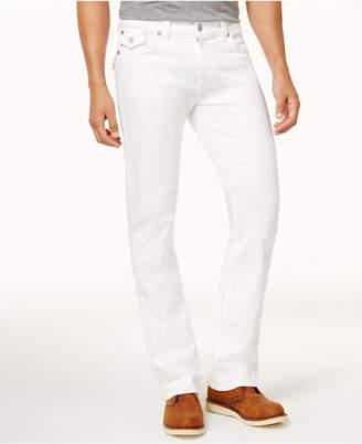 True Religion Men White Straight Fit Stretch Jeans
