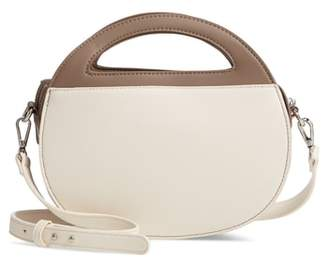 Leith Two-Tone Faux Leather Oval Crossbody Bag