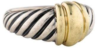 David Yurman Two-Tone Cable Station Ring