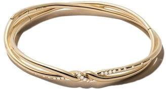 David Yurman 18kt yellow gold Continuance pavé diamond bangle