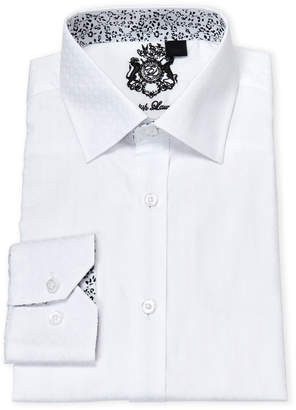 English Laundry White Tonal Check Cotton Dress Shirt