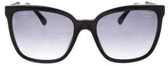 Chanel Square Chain-Link Sunglasses