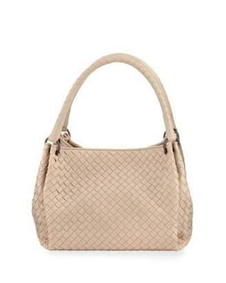 Bottega Veneta Parachute Small Intrecciato Tote Bag, Mink $2,400 thestylecure.com