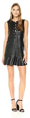 Just Cavalli Women's Leather Dress