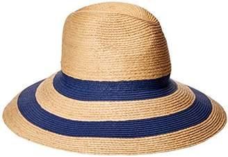 Gottex Women's Newport Raffia/Toyo Fedora Sun Hat, Rated UPF 50+ for Max Sun Protection,Adjustable Head Size