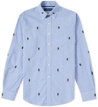 Polo Ralph Lauren Bear Jacquard Gingham Poplin Shirt