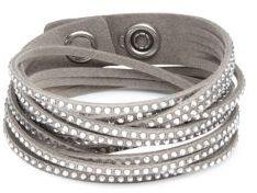 Slake Crystal Studded Bracelet $69 thestylecure.com