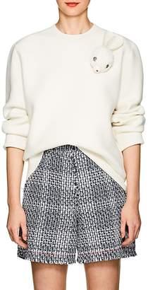 J.W.Anderson Women's Bunny-Brooch Wool-Blend Sweater