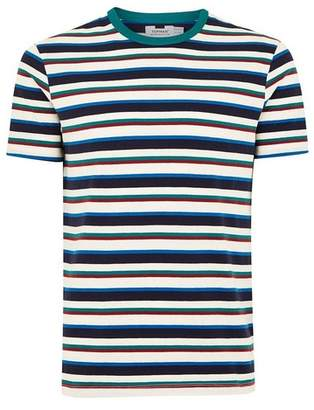 Topman Mens Green Striped T-Shirt