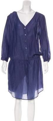 Velvet Silk-Blend Midi Dress