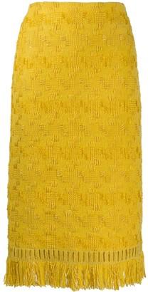 Ermanno Scervino geometric embroidery skirt