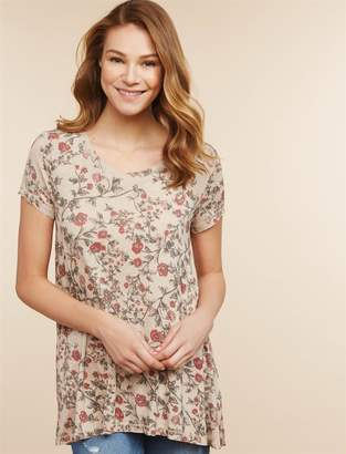 2c247d18e9b at Destination Maternity · Jessica Simpson Motherhood Maternity Side Access  Nursing Tunic
