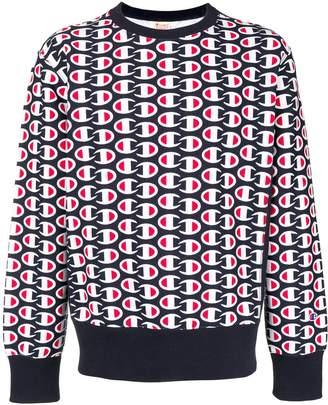 Champion all-over logo print sweatshirt