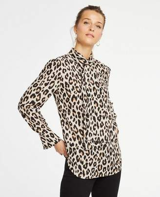 Ann Taylor Tall Spotted Bow Blouse