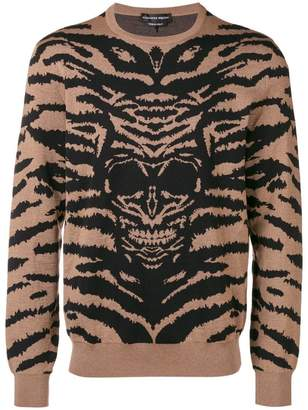 Alexander McQueen zebra and skull print sweater