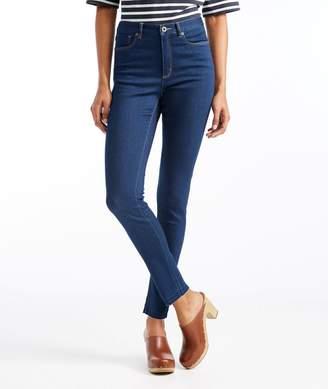 L.L. Bean L.L.Bean Signature Skinny Ankle Jeans, Raw Hem