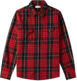 Saint Laurent Heavy Felt Wool Check Overshirt