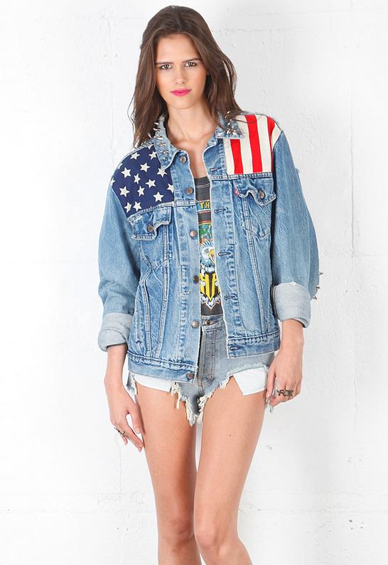 Levi's RUNWAYDREAMZ x Levis Studded America Jacket in Denim