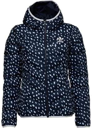 adidas Womens Slim All Over Print Jacket Legend Ink/White