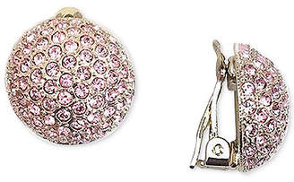 Nina Gold-Tone Pave Dome Clip-on Earrings