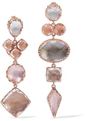 Larkspur & Hawk - Convertible Sadie Rose Gold-dipped Quartz Earrings