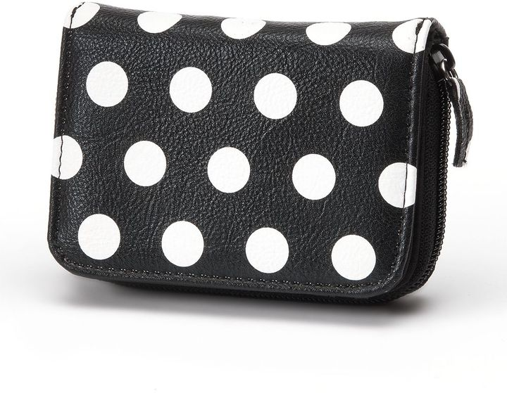 Apt. 9 dotted coin & cards pouch