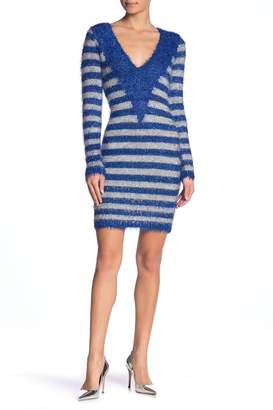 Wow Couture Madaleine Fuzzy Long Sleeve Sweater Dress