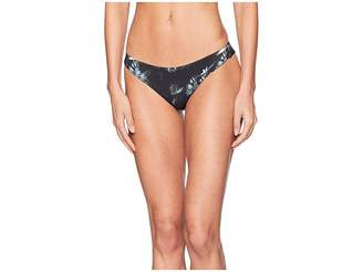 RVCA Dark Palm Cheeky Swim Bottom Women's Swimwear