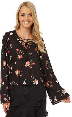 All About Eve New Women's Willow Tie Up Shirt Lace Viscose