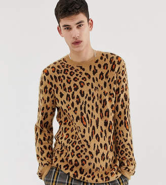Asos Design DESIGN Tall sweater with leopard design