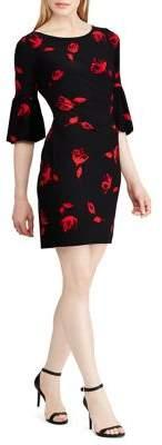 Lauren Ralph Lauren Joelle Ruched Bell Sleeve Dress