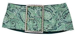 Dolce & Gabbana Crystal-Embellished Oversize Silk Belt