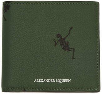 Alexander McQueen Green Dancing Skeleton Wallet