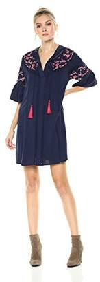 Ella Moon Women's Winnie Bell Sleeve Embroidered Dress