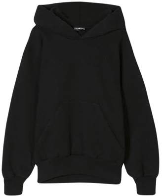 Balenciaga logo hoodie washed black