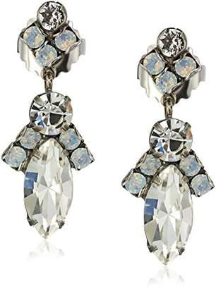 Sorrelli White Bridal Elegant Navette Drop Earrings