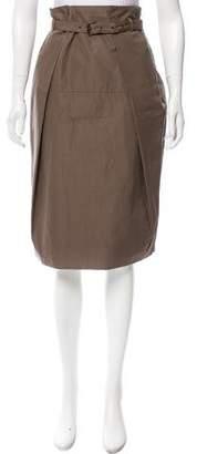 Bottega Veneta Pleated Knee-Length Skirt w/ Tags