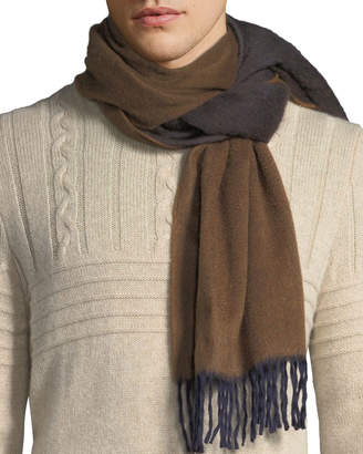 Co Begg & Men's Two-Tone Cashmere Scarf, Brown