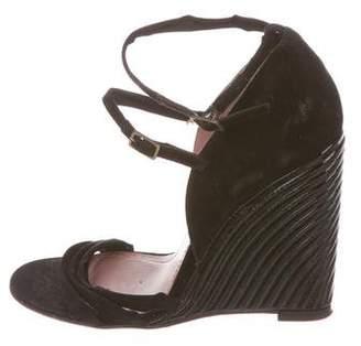 Derek Lam Suede Wedge Sandals